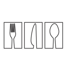 figure symbol cutlery food icon vector image vector image