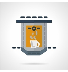 Flat icon for coffee making vector image vector image