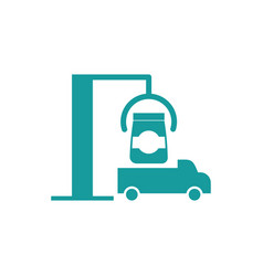shipment icon truck and goods business finance vector image vector image