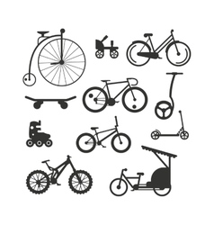 Bike black silhouette mountain ride vector image vector image