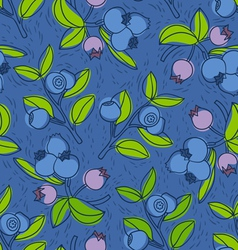 Blueberry and bilberry pattern vector image vector image