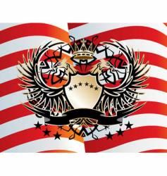 heraldic sign vector image vector image