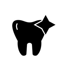 tooth with shine - cleaned icon vector image vector image
