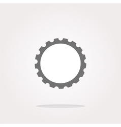 gear web icon button isolated on white vector image vector image