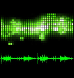 Green Equalizer and Sound Curve vector image vector image