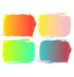 Grunge frame setColor grunge background design vector image