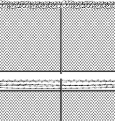 mesh netting and barbed wire vector image