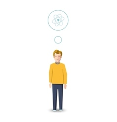 Flat character physicist with profession icon vector image vector image
