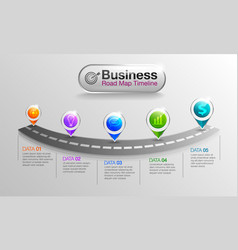 Infographic business roadmap timeline vector