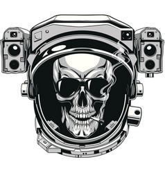 skull in a spacesuit vector image vector image