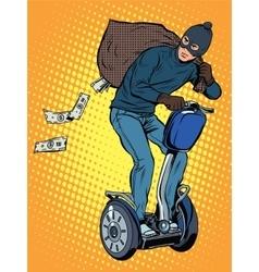 Tech stealing money vector image vector image
