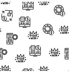 betting and gambling seamless pattern vector image