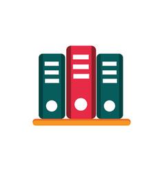 Binders archive shelf education school icon design vector