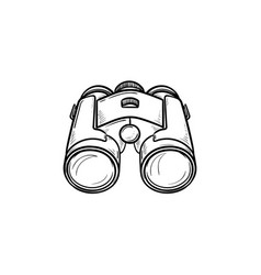 binoculars hand drawn outline doodle icon vector image