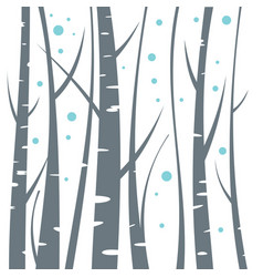 Birch flat on white background vector