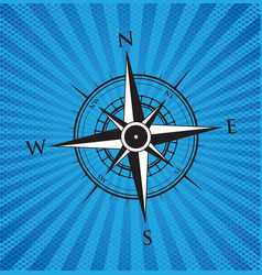 blue compass background vector image