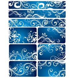 blue floral backgrounds vector image