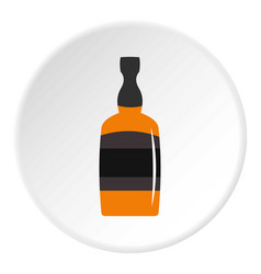 Brandy bottle icon circle vector