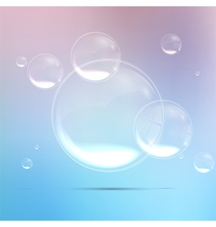 Bubbles background in blue water vector