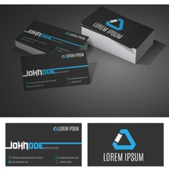 business card background design template vector image