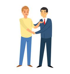 businessman or saleman handshake meeting business vector image