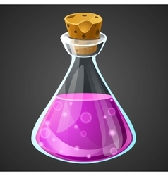 Cartoon potion bottle vector