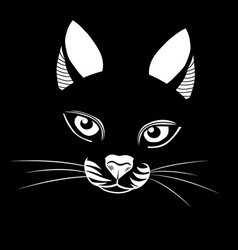 cat head vector image vector image