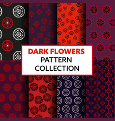 dark-flowers-pattern vector image
