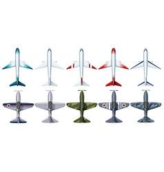 Different design jet plane vector