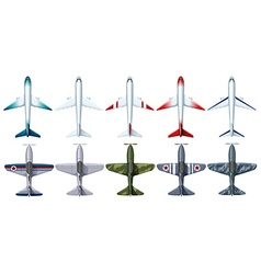 Different design of jet plane vector