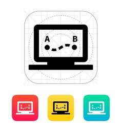 Drone route icon vector image