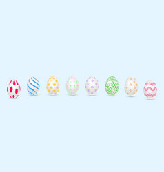 easter decorated eggs in realistic 3d style vector image