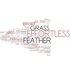 effortless word cloud concept vector image