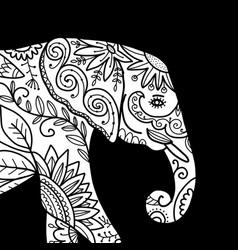 Elephant ornate sketch for your design vector