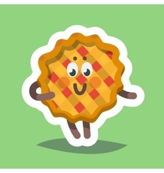 Emoticon Icon Flirty Sweet Pie vector