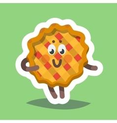 Emoticon Icon Flirty Sweet Pie vector image