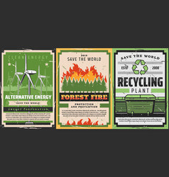 Environment garbage recycling and fire fighting vector