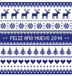 Feliz ano nuevo 2014 - spanish happy year pattern vector