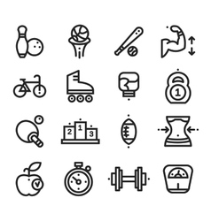Fitness and Health sport icons White Background vector image