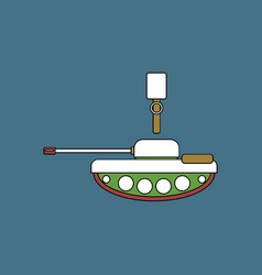 Flat icon design collection tank and old grenade vector