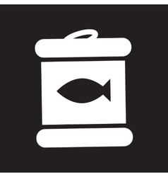 Flat icon in black and white style Canned tuna vector