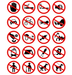 Forbidding pictograms2 vector