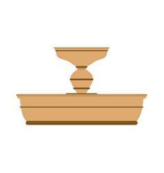 fountain icon fountain icon isolated on white vector image