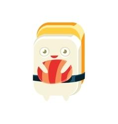 Geisha Funny Maki Sushi Character vector
