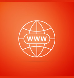 go to web icon on orange background www icon vector image