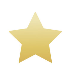 Gold colored star shape medal award winning 3d vector