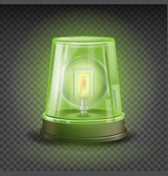 green flasher siren realistic object vector image