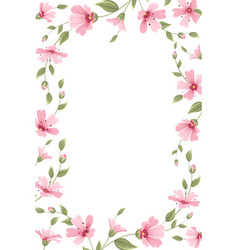 Gypsophila babreath floral border frame template vector