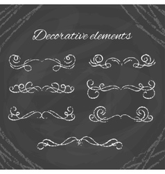 Hand drawn divders set Chalk dividers on vector