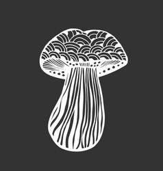 Hand drawn magic mushroom vector